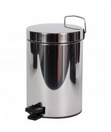 Ведро для мусора WK 5л.  Нерж. (34026)