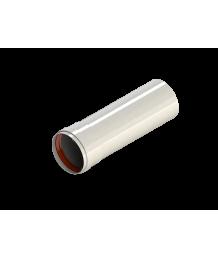 Труба алюмюминиевая окрашенная белым D80, длина 0,25 м