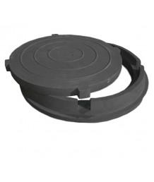 Люк полимерно-песчаный композитный 1 т (садовый) черный