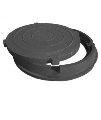 Люк полимерно-песчаный композитный 6 т (черный), тип С