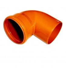 Отвод D 110x90 (кирпичный цвет)