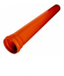 Труба НПВХ 110x3,2x1 м (кирпичный цвет)