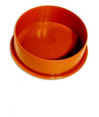 Заглушка для раструба D 110 мм (кирпичный цвет)