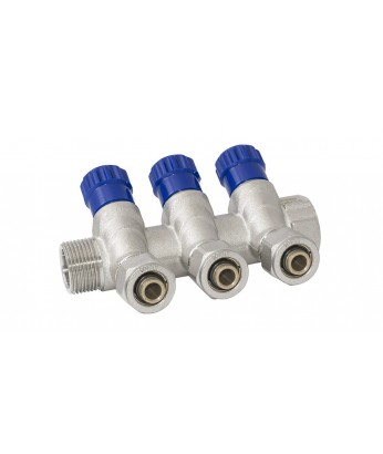 Коллектор PF MVP 268.3С с регулировочными вентилями и цангами