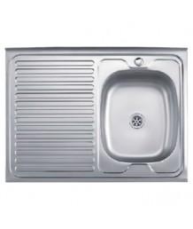 Кухонная мойка L-78060R (Матовая) 0,4мм   800*600