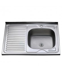 Кухонная мойка MELANA  0,8мм   600*600х180 (+сифон) правая