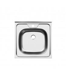 Кухонная мойка ЮКИНОКС Стандарт STD500.500-5C 0СS сифон м/с без перелива (67313)