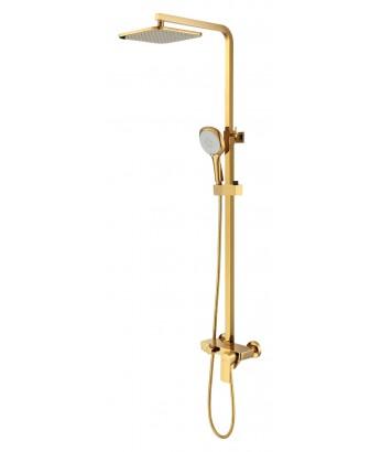 Смеситель D&K д/ванны к. н. 1-захв. DA1433703А01 с верх.душем золото