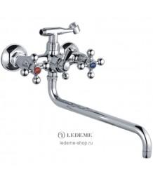 Смеситель LEDEME  д/ванны длин нос(2619-2) (92595)