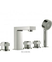 Смеситель LEDEME  д/ванны врезной  L1187 на 5 отв. (96791)