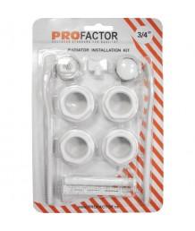 """Комплект для радиаторов отопления 3/4"""" с кронштейнами ProFactor"""