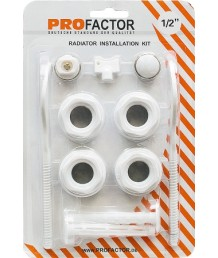 """Комплект для радиаторов отопления 1/2"""" с кронштейнами ProFactor"""