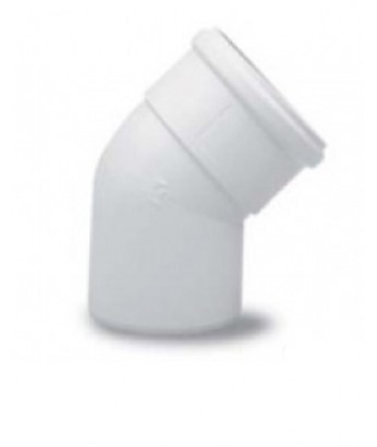 Колено алюминиевое D80, окрашенное белым, угол 45