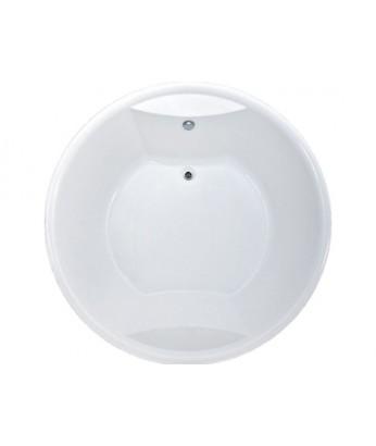 Ванна акриловая 1MARKA Omega 180х180 (круглая) +хром+см-ль Volna 4отв.