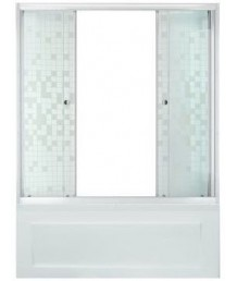 Штора 2 двери 1500, Аква, Мозаика, Белый