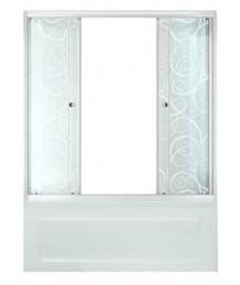 Штора 2 двери 1500, Аква, Узоры, Белый