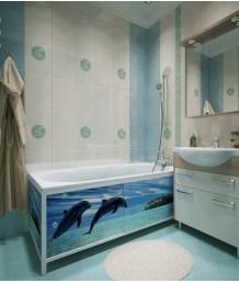Экран под ванну МетаКам Ультра легкий АРТ 148 см
