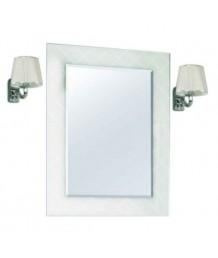 """Зеркало """"Венеция 65"""" белое со светильниками"""